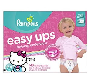 Pampers Easy Ups Training Underwear Girls 3T-4T (Size 5), 148 Count