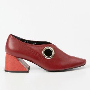 Rejina Pyo x Yuul Yie Wine / Red Grommet Mid Heel
