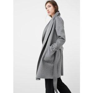 Wide lapel wool-blend coat - Women | OUTLET USA