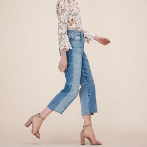 PERRY Straight-cut faded denim jeans - Pants & Jeans - Maje.com