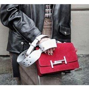Tod's - Mini Double T Leather & Chain Crossbody Bag