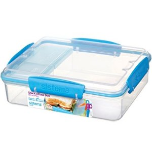 $8.39Sistema To Go Collection Snack Attack Duo Food Storage Container, 32.9 oz, Clear with Blue