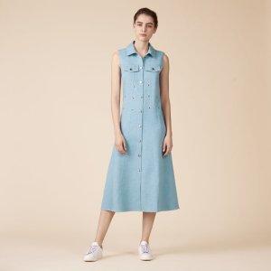 RIHA Long sleeveless dress - Dresses - Maje.com