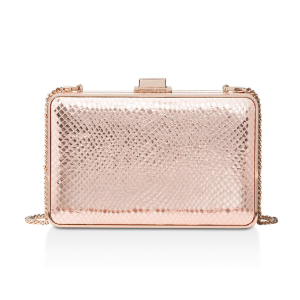 Pearl Medium Embossed Leather Box Clutch