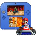 Nintendo 2DS Electric Blue 2 System with Mario Kart 7