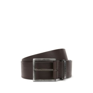 'Scott Sz40 ltpl' | Leather Brushed Buckle Belt