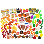 Creative Time 130-Piece Pretend Play Food Assortment Set