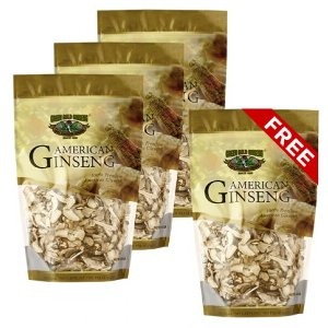 American Ginseng Slice Small Size 8oz bag x 4 (Buy 3 get 1 free)