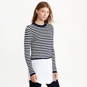 Layered Wool Sweater - Scoop, Crew & Boatnecks � Sweaters - RalphLauren.com