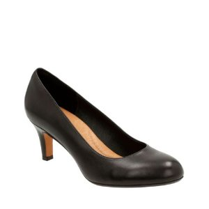 Heavenly Heart Black Leather - Women's Wide Width Shoes - Clarks® Shoes Official Site