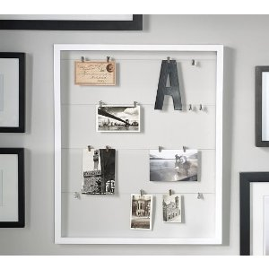 Wood Gallery Clothesline Photo Display Frame | Pottery Barn