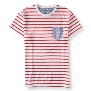 American Flag Stripe Pocket Tee - Aeropostale