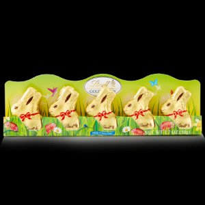 Mini Lindt GOLD BUNNY 5-pack | Lindt Easter Chocolate