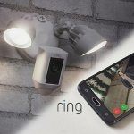 Ring Floodlight Security Camera Wide Angle HD Two-Way Talk w/ 3yr Warranty