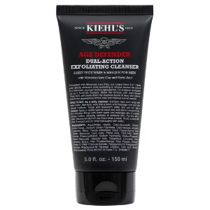 Age Defender Cleanser – Men's Charcoal Colored Face Scrub – Kiehl's