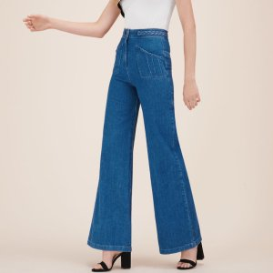 PHIL Wide-leg jeans with woven detail