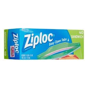 Ziploc Zipper Sandwich Bags, 40 Ct   Jet.com