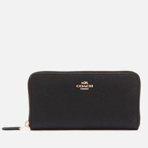 Coach Women's Accordian Zip Wallet - Black - Free UK Delivery over £50