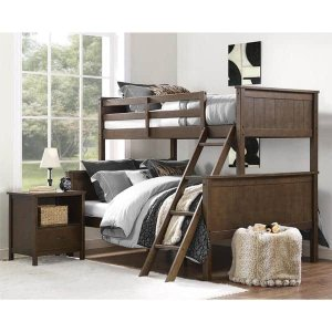 Dorel Living Maxton Mocha Twin over Full Bunk Bed | Overstock.com Shopping - The Best Deals on Kids' Beds