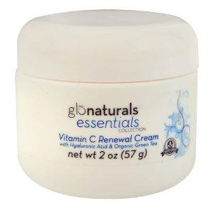 Glonaturals Essentials Collection - Vitamin C Renewal Cream with Hyaluronic Acid & Organic Green Tea - Non-GMO -- 2 oz