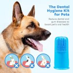 TaoTronics Dog Finger Toothbrushes with 2 Free Storage Cases,Pack of 6