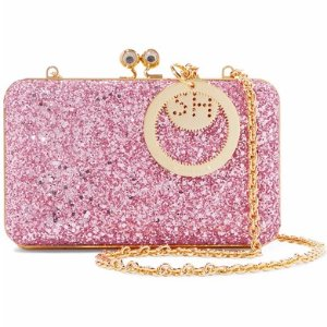 Sophie Hulme Sidney glittered suede clutch