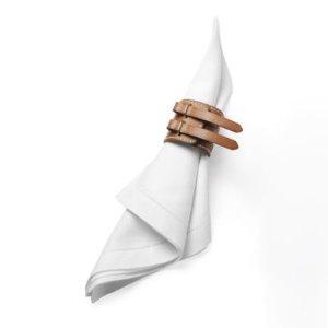 皮质搭扣型餐巾环