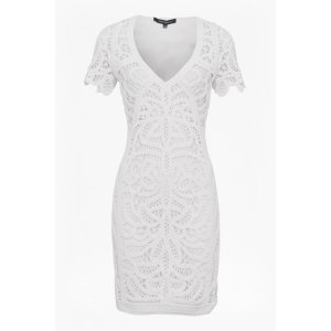 Mesi Macrame Lace Jersey Dress | Dresses | French Connection Usa