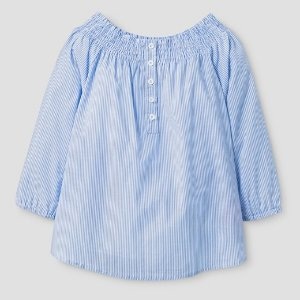 Girls' Say What? Off the Shoulder Top - Blue : Target