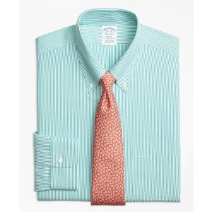 Non-Iron Regent Fit Dobby Candy Stripe Dress Shirt - Brooks Brothers