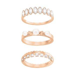 Gangster Ring Set, White - Jewelry - Swarovski Online Shop