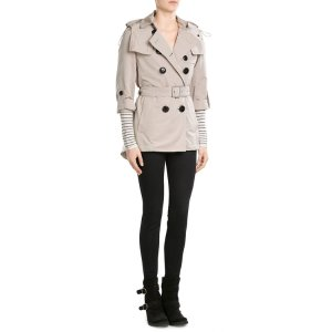 Knightsdale Short Hooded Trench Coat - Burberry | WOMEN | US STYLEBOP.COM