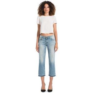 Tasha Cropped Frayed Jeans | Alice + Olivia