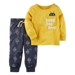 2-Piece Graphic Tee & French Terry Pant Set