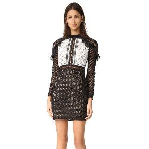 Self Portrait Geometric Mini Dress | SHOPBOP