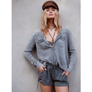 We The Free City Lights Henley at Free People Clothing Boutique