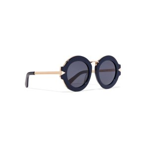 Maze round-frame acetate and metal sunglasses | Karen Walker