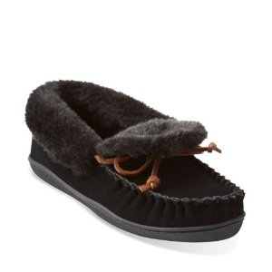 Gintra Adira Moccasin Black - Women's Slippers - Clarks® Shoes Official Site