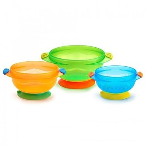 $5.99Munchkin Stay Put Suction Bowl, 3 Count @ Amazon