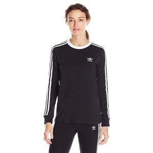 adidas Women's Originals 3-Stripes Long Sleeve Tee at Amazon Women's Clothing store: