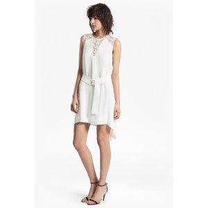 Hennessy Drape Belted Mini Dress