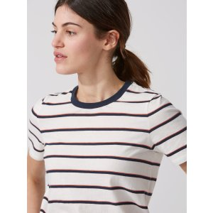 The Striped Boy Tee in Dark Saphire | Frank And Oak