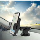 $6.99 Car Phone Mount, Veckle Dashboard Cell Phone Holder for Car With Release Button Universal Windshield Car Mount Holder Suction cup Cradle for Smartphone iPhone 8 7 6S 6 Plus Samsung Galaxy S8 GPS Black