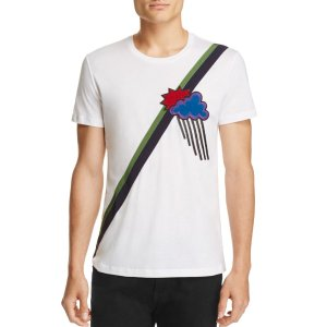 Burberry Saxford Embroidered Graphic Tee | Bloomingdale's
