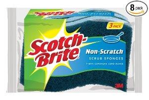 24块$10.11 限会员Scotch-Brite 防刮清洁海绵 24块