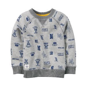 Baby Boy French Terry Varsity Pullover | Carters.com