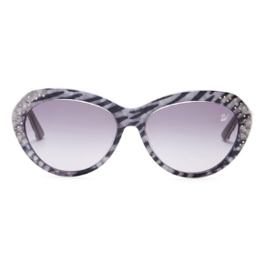 Swarovski | Women's Crystal Accented Zebra Cat Eye Sunglasses | HauteLook
