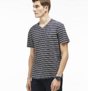 $35.99($60)Lacoste Men's Stripe V-Neck T-Shirt