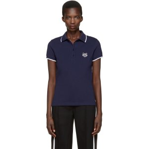 Kenzo: Navy Tiger Patch Polo