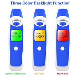 $12ZenNutt Baby Forehead Ear Thermometer Infrared Digital Temporal Thermometers for Fever Infant Kids Patient Monitoring Systems